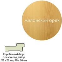 Коробка ПВХ.квадр.70*28*2070 мил.орех г.Пенза. Интернет-магазин Vseinet.ru Пенза