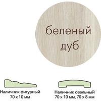 Наличник ламинир. (70*10*2150) беленый дуб овальный г.Пенза. Интернет-магазин Vseinet.ru Пенза