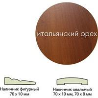 Наличник ламинир. (70*10*2150) ит.орех фигурный г.Пенза. Интернет-магазин Vseinet.ru Пенза