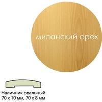 Наличник ПВХ (70*10*2150) мил.орех овальный г.Пенза. Интернет-магазин Vseinet.ru Пенза