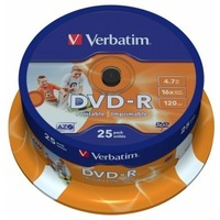 Диск DVD-R Verbatim 4.7Gb DVD-R 16x printable 25 шт в cake box (43538). Интернет-магазин Vseinet.ru Пенза