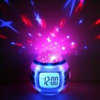 "Часы-будильник ""Звездное небо"", 3*ААА, дата/часы/температура, 8 мелодий, 11х11х11см 6679. Интернет-магазин Vseinet.ru Пенза"