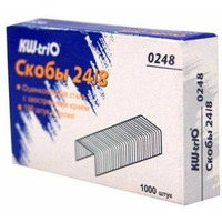 Скобы для степлера KW-TRIO 0248, 24/8, 1000шт, картонная коробка. Интернет-магазин Vseinet.ru Пенза
