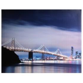 картина холст 50*40 см мост   967328