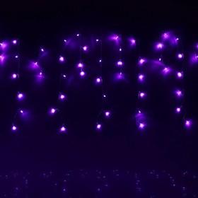 "Гирлянда ""Бахрома"" улич. Ш:1 м, В:0,6 м, нить силикон, LED-60-220V, контр. 8 р. ФИОЛЕТ 187251"