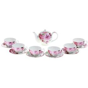 """Набор чайный на 6 персон, 13 предметов, 250 мл, 1000 мл """"Вдохновение"""" 240621"""