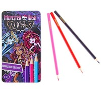 "карандаши 12цв ""Monster High"", 177мм, в метал/упак 85788   1093943, Monster High. Интернет-магазин Vseinet.ru Пенза"