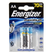 батарейка алкалиновая Energizer Maximum AA набор 2 шт LR6    150624, Energizer. Интернет-магазин Vseinet.ru Пенза