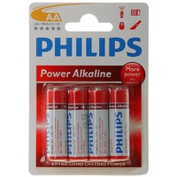 батарейка алкалиновая Philips АА набор 4 шт на блистере LR6-4BL  POWERLIFE (48/864/17 280)   780585, Philips. Интернет-магазин Vseinet.ru Пенза
