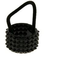 Фото резинка д/волос модная штучка черная рельеф 859726. Интернет-магазин Vseinet.ru Пенза
