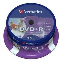 Диск DVD-R Verbatim 4.7Gb DVD+R 16x printable 25 шт в cake box (43539). Интернет-магазин Vseinet.ru Пенза