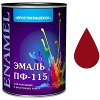 "Эмаль ""Простокрашено!"" красная БАУ 0,9 кг. Интернет-магазин Vseinet.ru Пенза"