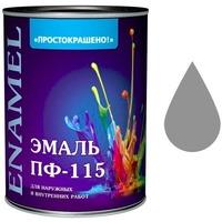 """Эмаль """"Простокрашено!"""" серая БАУ 2,7 кг. Интернет-магазин Vseinet.ru Пенза"""