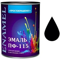 """Эмаль """"Простокрашено!"""" черная БАУ 1,9 кг. Интернет-магазин Vseinet.ru Пенза"""