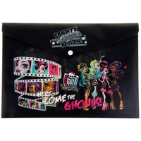 папка-конверт с кнопкой А4 Monster High 180мкм 858906, Monster High. Интернет-магазин Vseinet.ru Пенза