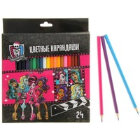 карандаши 24цв Monster High с заточ в карт/короб с европодв BKc 24556 1034098, Monster High. Интернет-магазин Vseinet.ru Пенза